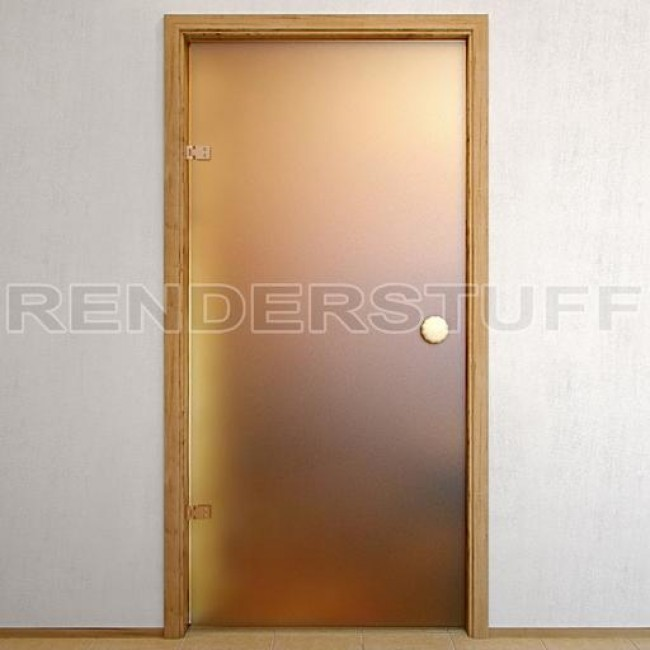 VrayWorld Frosted Glass Bath Door